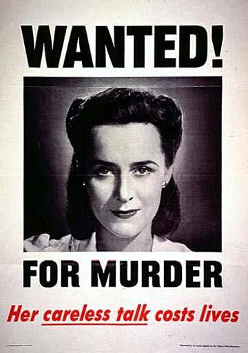 World War II Poster - Wanted For Murder