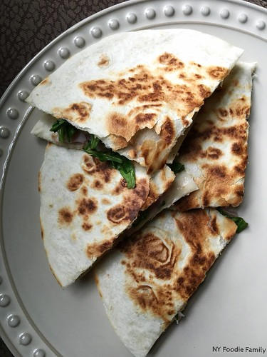 Ham and Honeycrisp Quesadillas