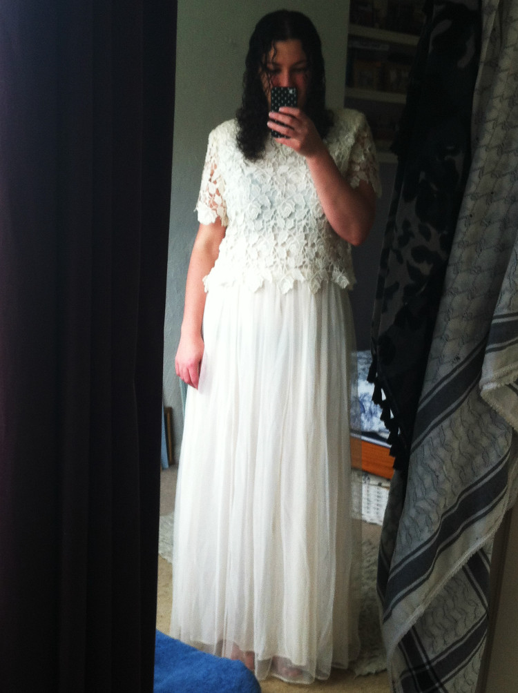 Before wedding dress alteration