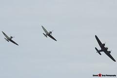 G-BPIV L6739 Q-YP - Fairchild Bolingbroke IVT (Bristol Blenheim 1F) & G-CFGJ N3200 QV & G-MKIA P9374 J - Supermarine 300 Spitfire Mk1A - Duxford, Cambridgeshire - 150523 - Steven Gray - IMG_2812