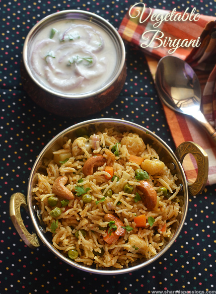 Vegetable biryani recipe veg biryani chettinad style recipe vegetable biryani recipe forumfinder Choice Image
