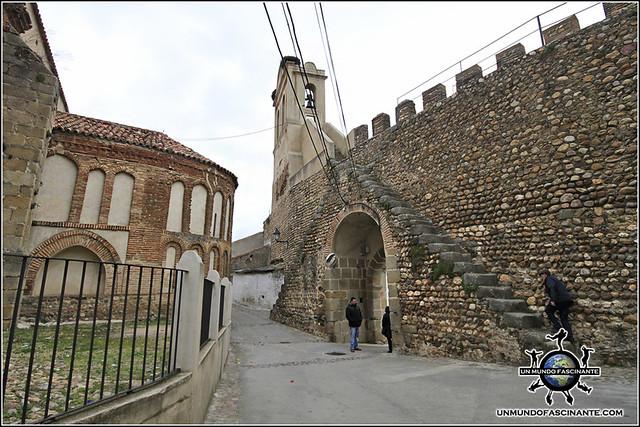 Ábside de Iglesia de N. Señora de la Asunción, Galisteo, Cáceres, Extremadura. España. Spain.