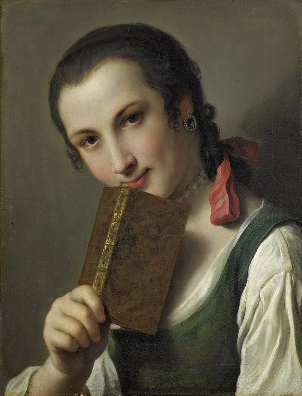 Pietro Rotari - Een jonge vrouw met een boek