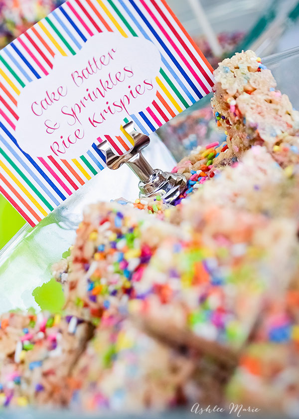 cake mix and sprinkles rice krispy treats are just that, an amazing and delicious dessert