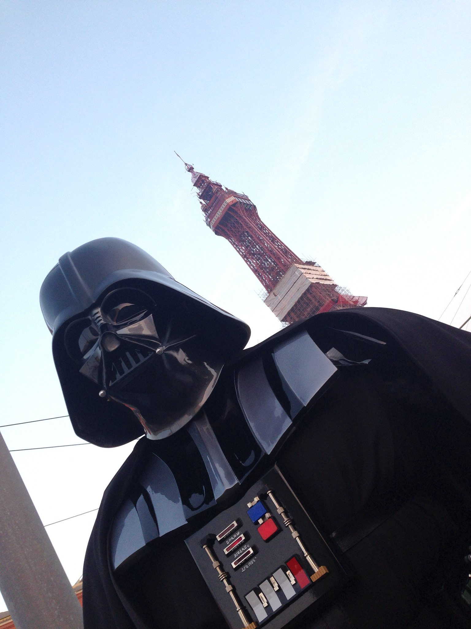 Blackpool Comic-Con Launch Party - Star Wars Darth Vader by Blackpool Tower