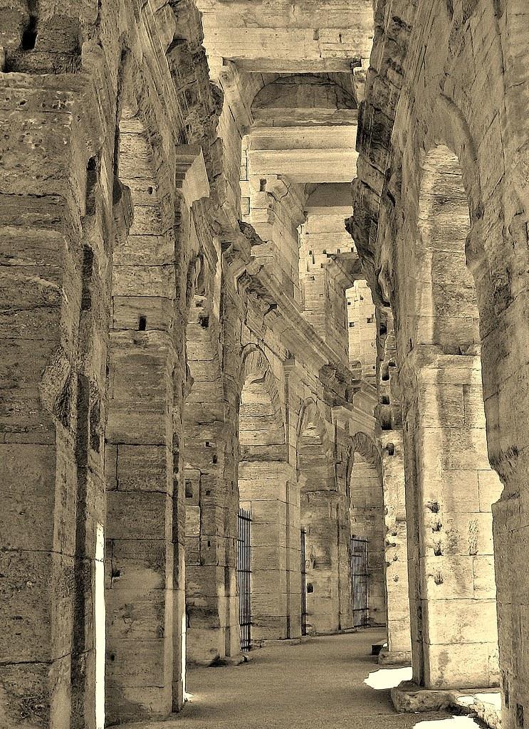 FRANCE - Provence , Arles, roman  Amphitheater, Arkaden ,12730/5167