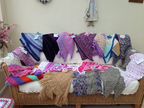 18 Shawls delivered to Wythall Care Home thanks everyone.