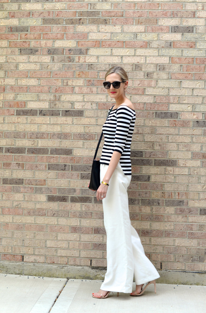 sailor chic stripes outfit