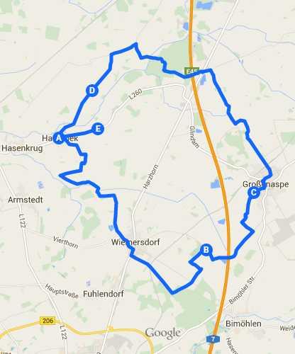 Radtour Auenland Karte