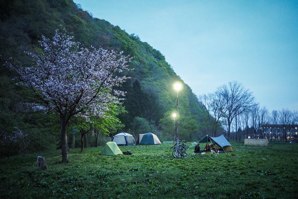 Dusk at Taisei Campground, Hokkaido, Japan