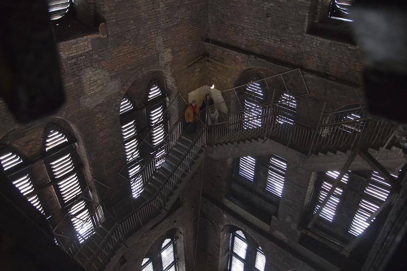 Wieża kościoła Mariackiego wewnątrz - Gdańsk