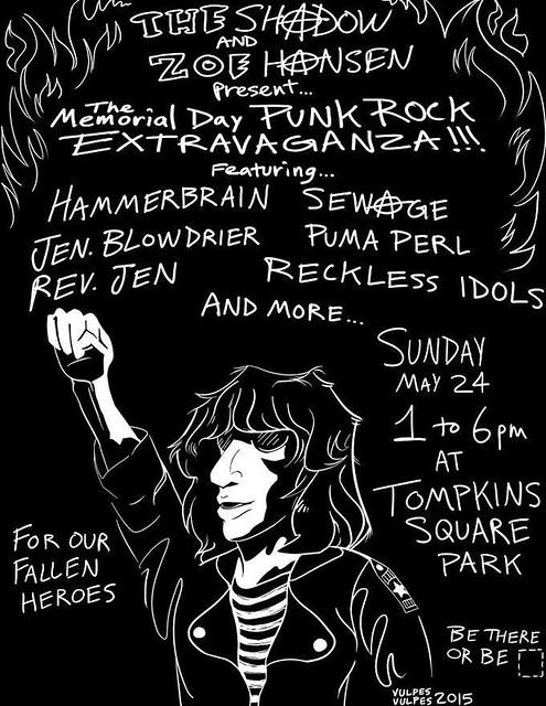 05/24/15 Memorial Day Punk Rock Extravaganza @ Tompkins Square Park, New York City, NY