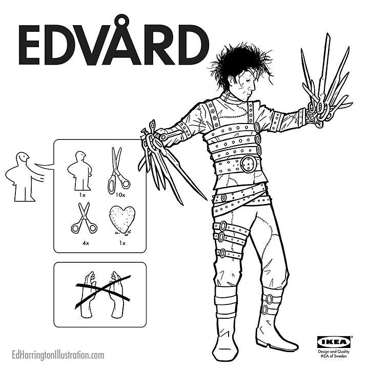 IKEA Instructions for Horror Fans - Edward Scissorhands by Ed Harrington