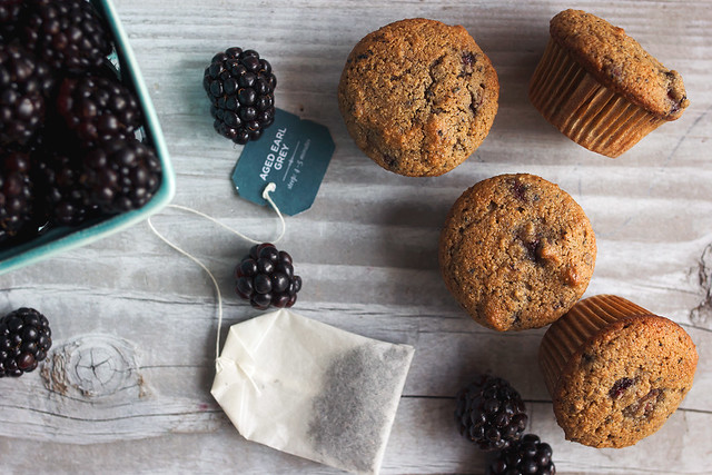 Grain-free Blackberry Earl Grey Mini Muffins