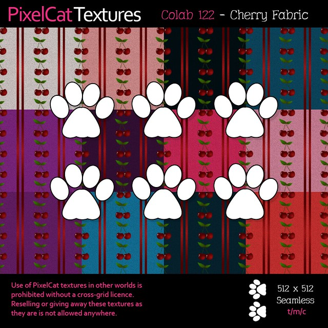 PixelCat Textures - Colab 122 - Cherry Fabricng