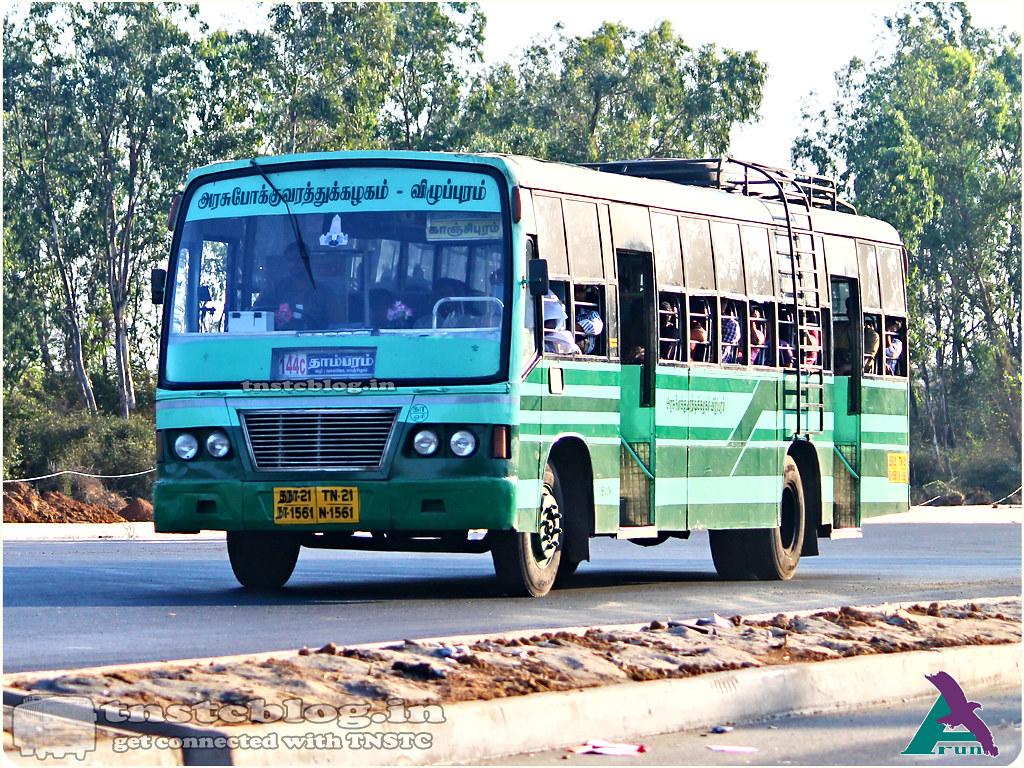 TN-21N-1561 of Orikkai Depot 144C Tambaram - Chittoor via Oragadam, Kancheepuram, Walajabad, Thiruvalam.