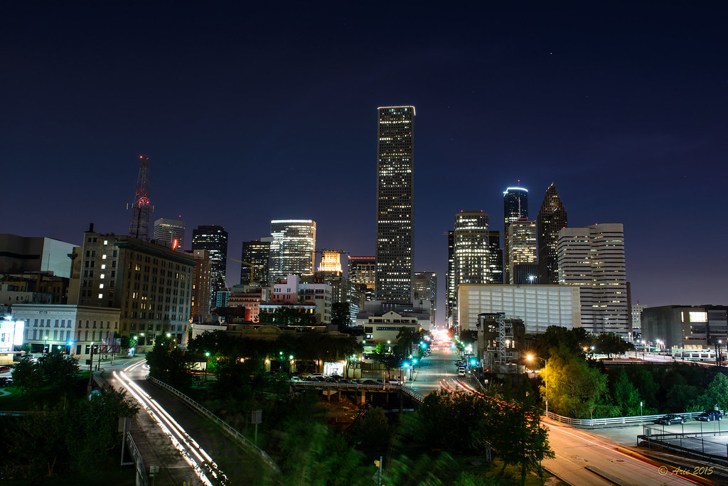 Downtown Houston from the east