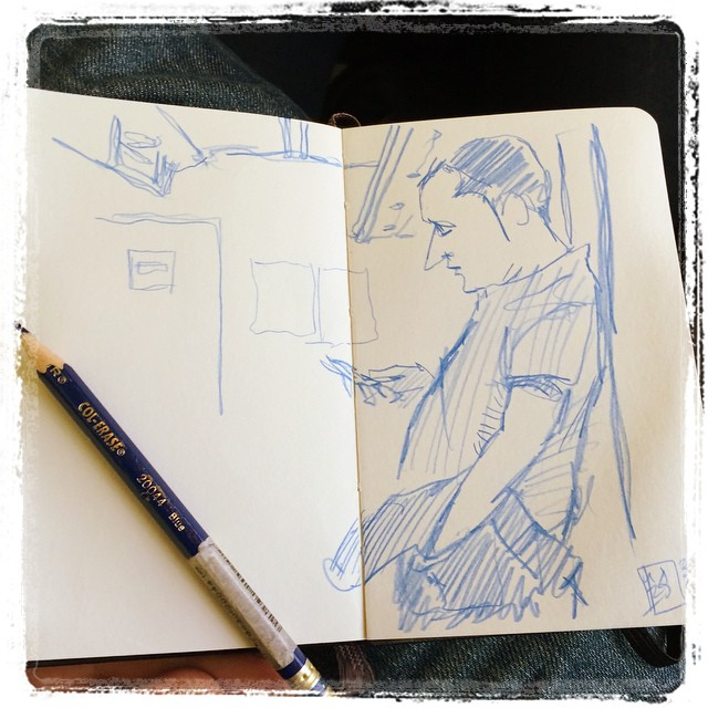 #urbansketch #colerase #train