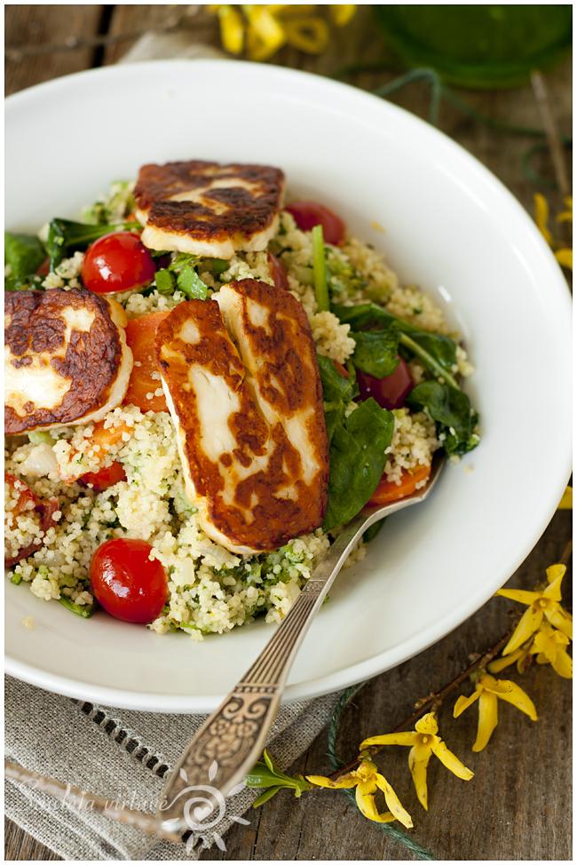 Karštos salotos su kuskusu ir Halloumi sūriu (3)