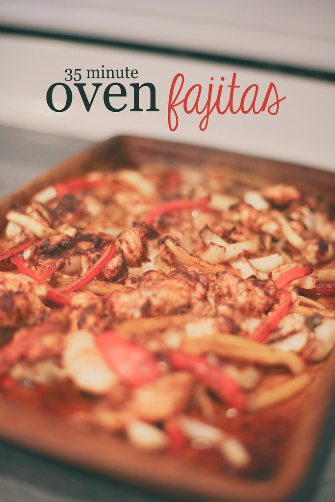Very simple and fast Oven Fajita recipe. Done in 35 minutes!
