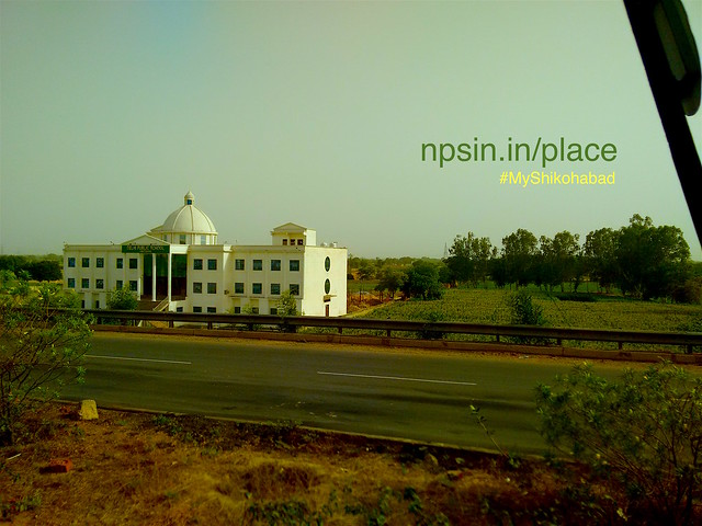 White shine attractive building visible from NH2 while boarding towards Sirsaganj. Delhi Public School (DPS), near railway crossing, National Highway 2 (NH2) Shikohabad