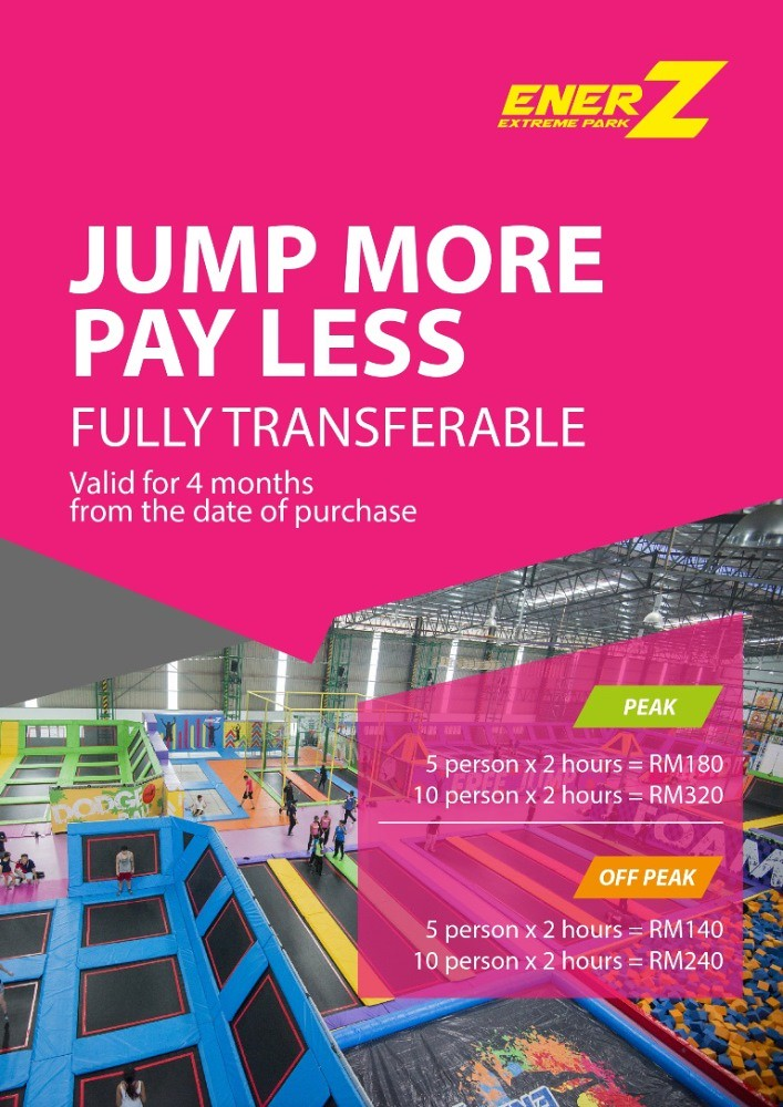 EnerZ Indoor Extreme Park Jump More Pay Less