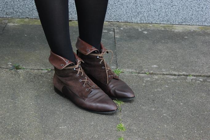 Vintage stiefeletten - vintage lace up boots