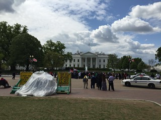 Protest in front of the White House