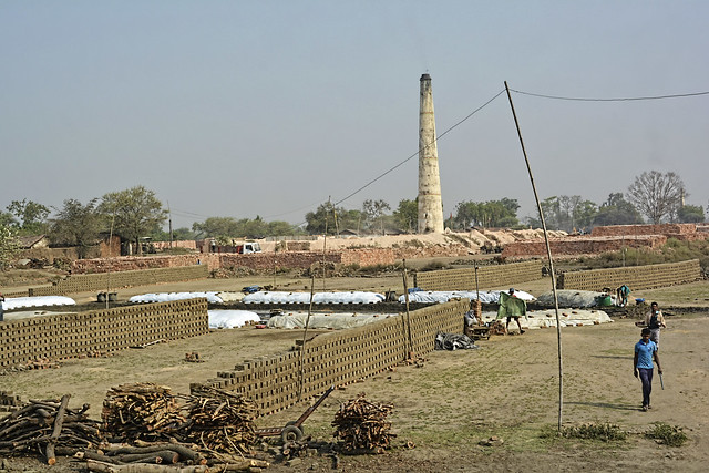 """There are around 250-300 brick kiln units around the stretch of the Shivnath. Most of the soil from the river bed is used by these units. There is no regulatory mechanism, so the continuous excavation of the soil has deteriorated the soil quality around the Shivnath"", says Shiv Nishad, former Sarpanch of Mahamara village."