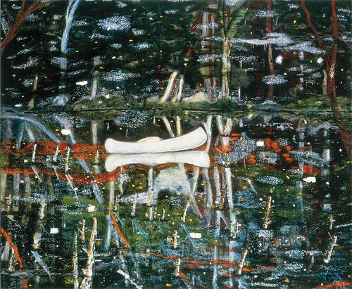 Peter Doig, White Canoe, 1990-91, Oil on canvas