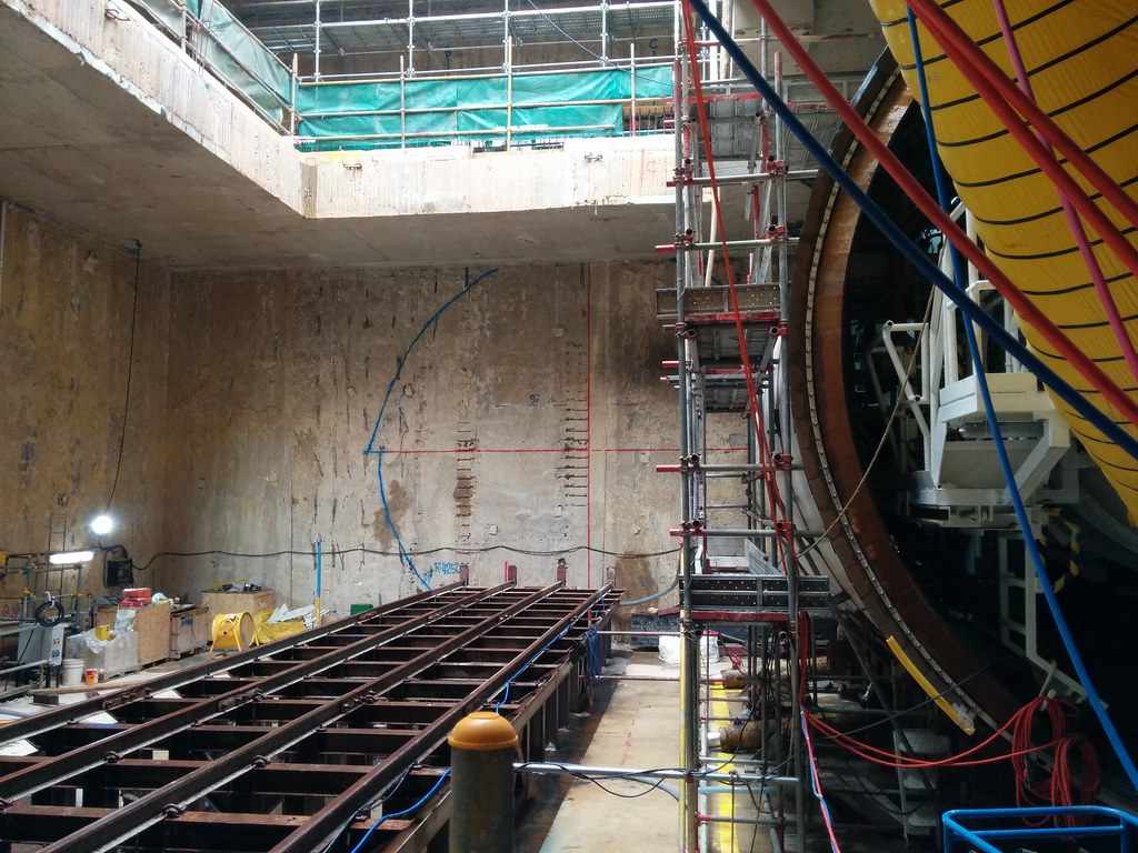 Thomson-East Coast Line MRT, Tunnel boring machine, Orchard station, Singapore