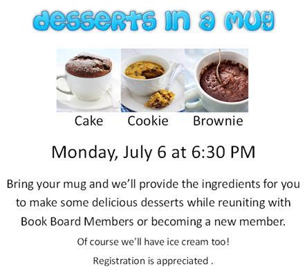 desserts in a mug
