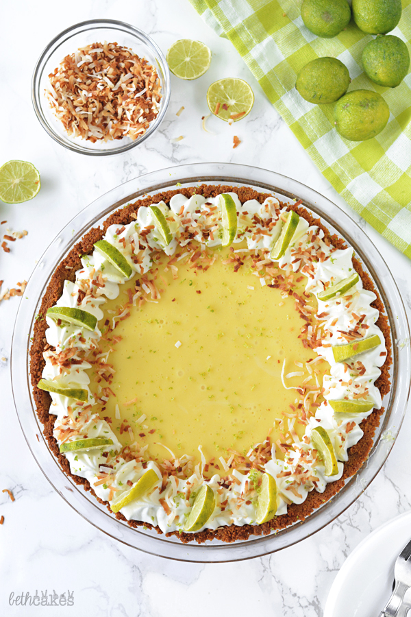 Toasted Coconut Key Lime Pie! bethcakes.com