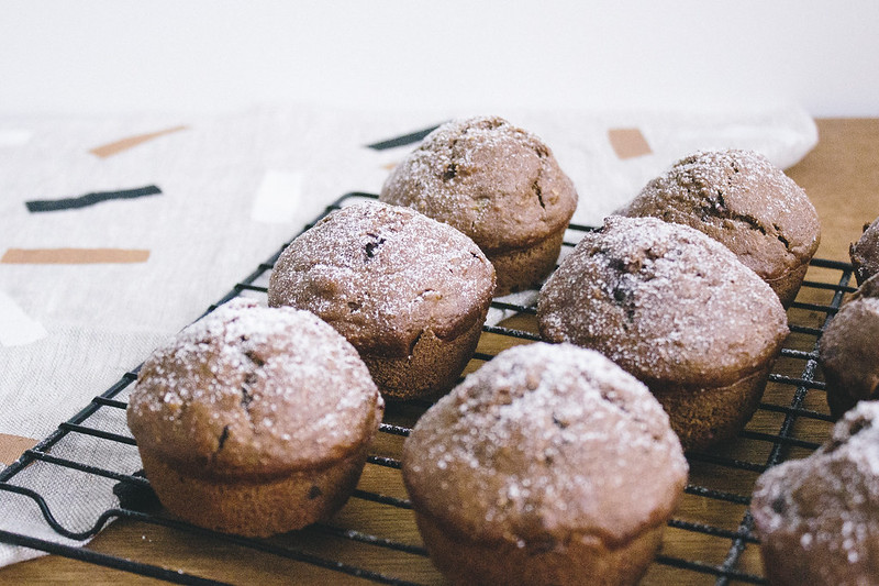 Chocolate, Banana, and Coconut muffins