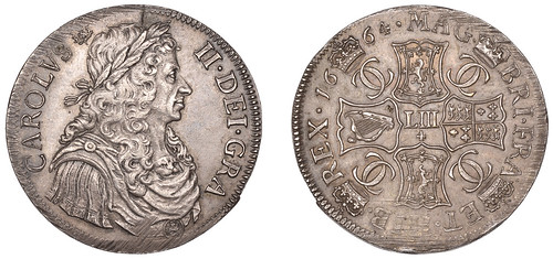 Manville Charles II 4 Merks (med)