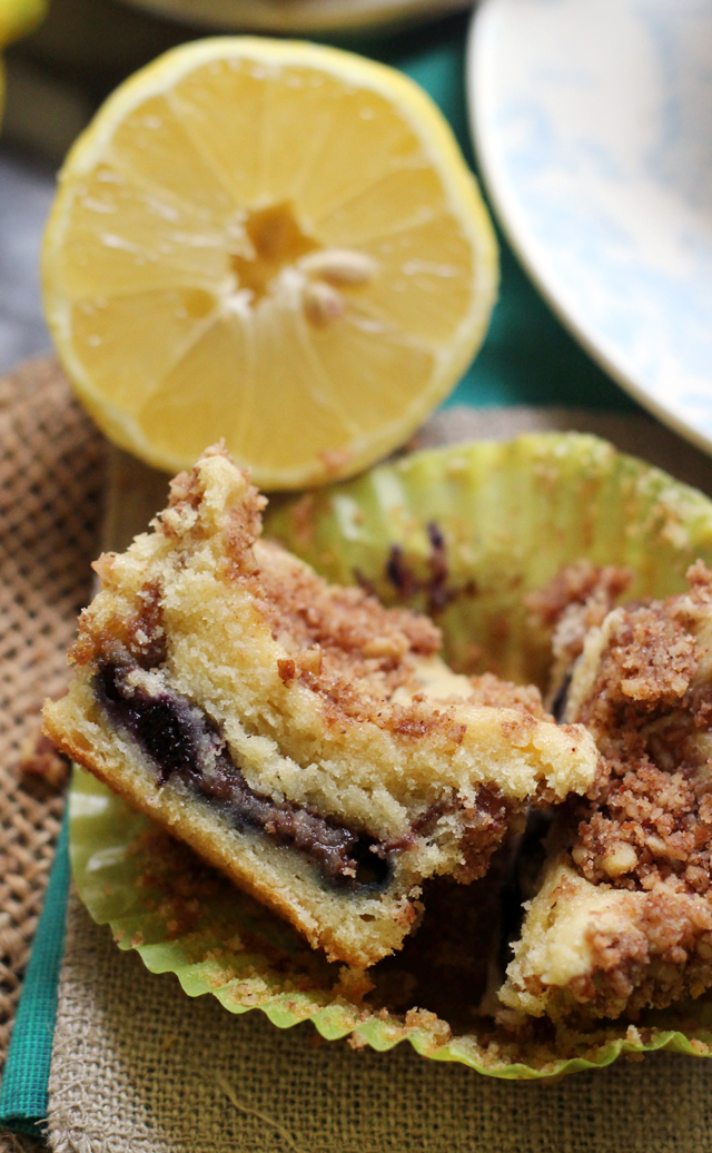 Lemon Blueberry Sour Cream Coffee Cake Muffins Joanne