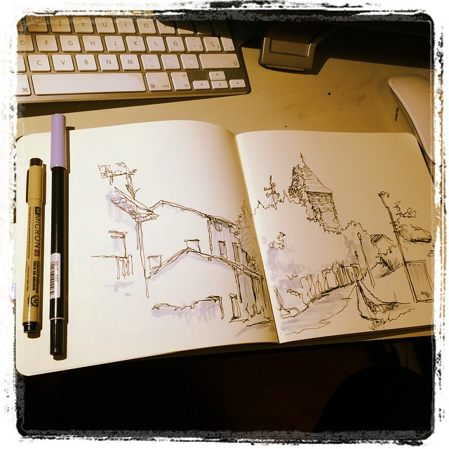#urbansketch #micron #tombow #sara