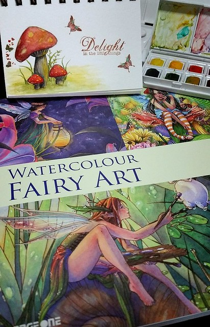 Watercolor Fairy Art Book