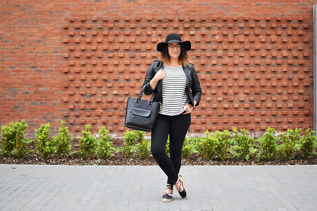 Black White and Stripes Outfit
