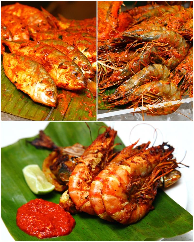 Ikan and Udang Bakar