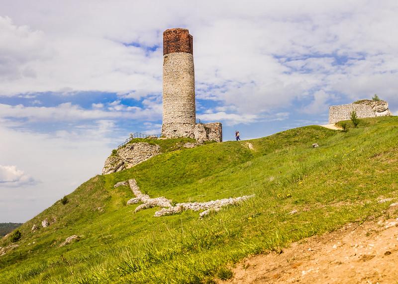 Zamek Olsztyn HDR - Wieża - Góry Towarne
