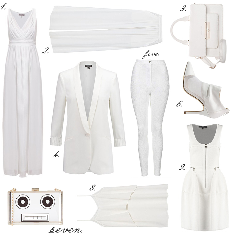 all white evening