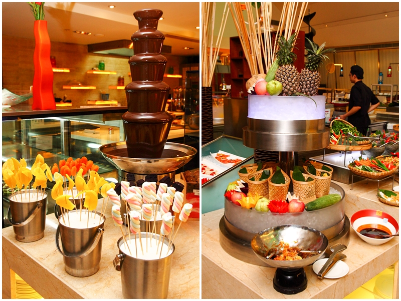 Chocolate Fountain and Rojak Station