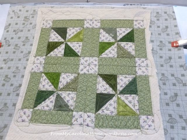Forest Paths quilting 2