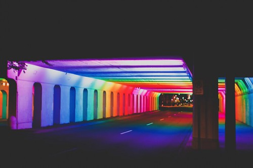 "Tunnel of Lights, Railroad Park, Birmingham, Alabama, ""Light Rails"" by Bill FitzGibbons"
