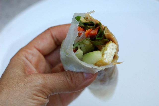Fresh spring roll by Eve Fox, the Garden of Eating, copyright 2015
