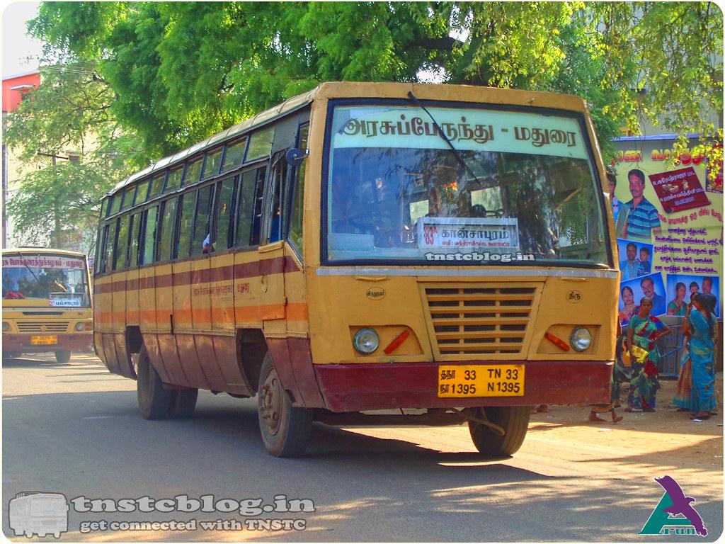 TN-33N-1395 of Srivilliputtur Depot 83A Srivilliputtur - Kansapuram via Krishnankoil, Watrap, Koomapatti.