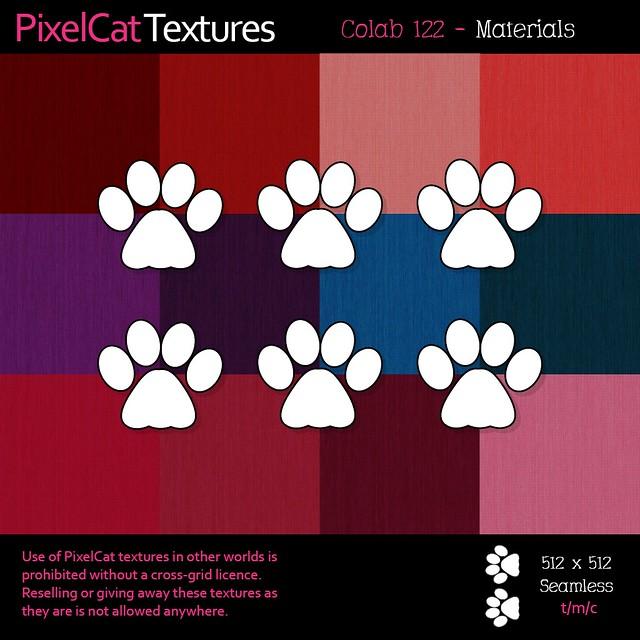 PixelCat Textures - Colab 122 - Materials