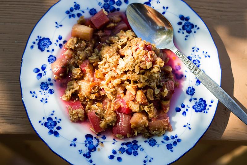 fresh rhubarb crisp