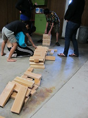 Homemade Jenga 2x4s